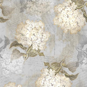 Vintage Farmhouse Hydrangeas Light Gray