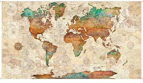 Wanderlust-World Map Panel