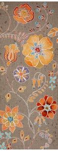 Wild Spirit-Large Floral on Taupe Texture