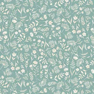 Woodland-Small Floral on Blue