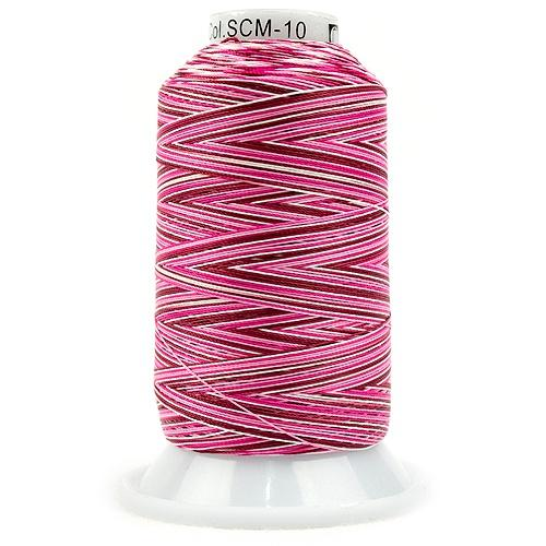 Silco Variegated-SCM10, Burgundy/Fuschia/Pinks