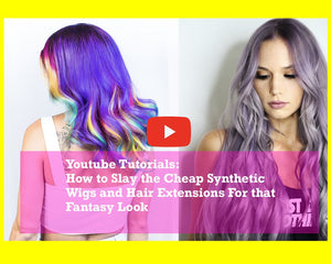 Youtube Tutorials: How to Slay the Cheap Synthetic Wigs and Hair Extensions For that Fantasy Look Part 1