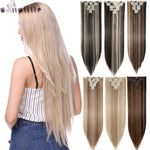 8Pcs/set 26inch Long Straight Clip in on Hair Extensions (various colors)