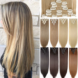 8PCS/SET 24inch Long 17Color synthetic Clip in Hair Extensions
