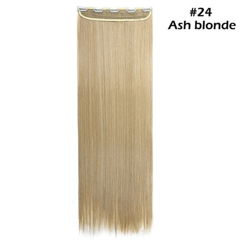 "42 colors 30"" long straight 5 clip in one piece hair extension"