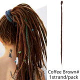 "1pc/pk 20"" Handmade Synthetic SE Dreadlock Extension (Pure Colors)"