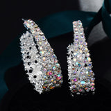 Ice Queen Rhinestone Sparkle Earrings (a pair)