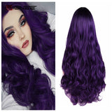 Long Wavy Two-Tone Ombre High Temperature Synthetic Wigs