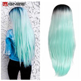 Long Straight Hair Synthetic Wig High Temperature Fiber