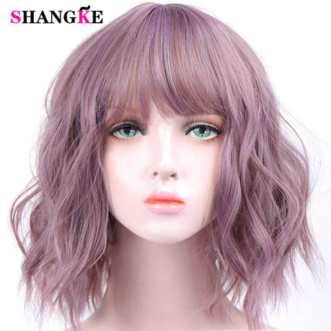 Short Wavy Wig Non Lace Front Heat Resistant Synthetic