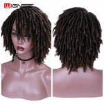 Short Soft Dreadlocks Synthetic Wigs High Temperature Fibre