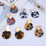 Resin Art Round Ear Clips (a pair)