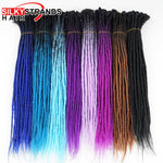 "10pcs/Lot 24"" Handmade Synthetic Single Ended Dreadlocks Extensions"