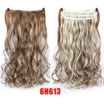 24'' Long Wavy Women Clip in Synthetic Hair Extensions High Temperature Fiber