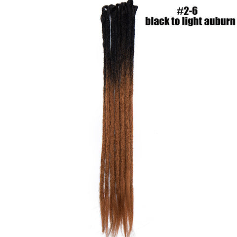 "24"" 2-Tone 3-Tone Handmade SE Synthetic Dreadlock Extensions"