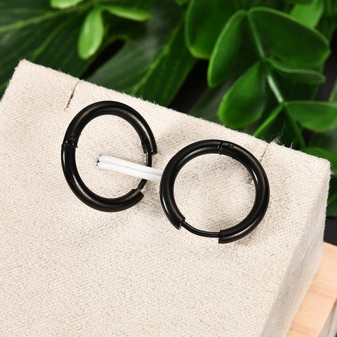 Punk Gothic Stainless Steel Hoop Earrings Septum Piercing
