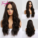 Long Synthetic Ombre Wavy Wigs High Temp Fiber