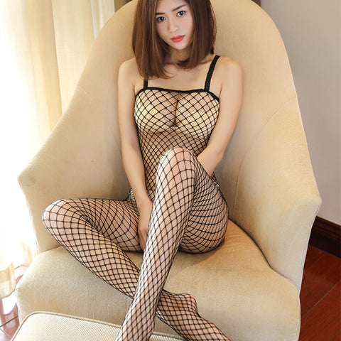 Erotic Hollow Mesh Baby Doll Fishnet Sexy Underwear