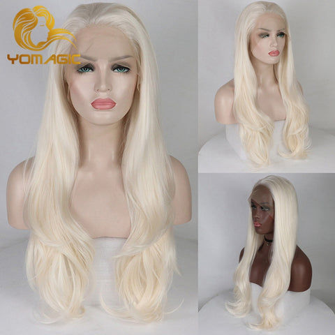 White Blonde Lace Front Synthetic Wigs (18/20/22/24/26inch)