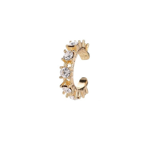 Fashion Diamond Studs Clip Earrings (silver/gold)