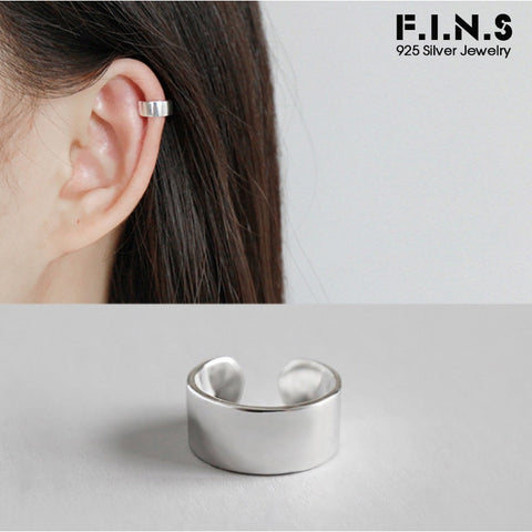 925 Silver Ear Tag Clip on Earring (silver/gold)