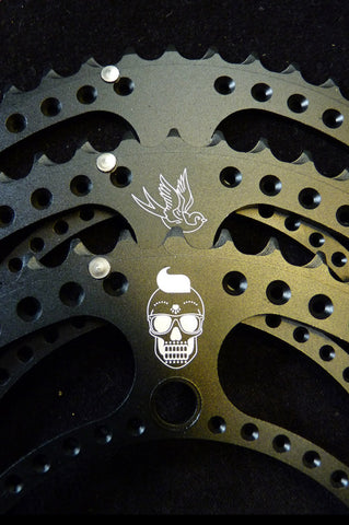 Laser Engraved Chainrings Available - Your Design or Logo