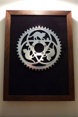 Framed Display for Chainrings