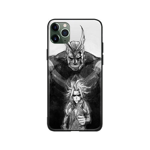 My Hero Academia Black and White All Might iPhone Case - The Anime Bazaar