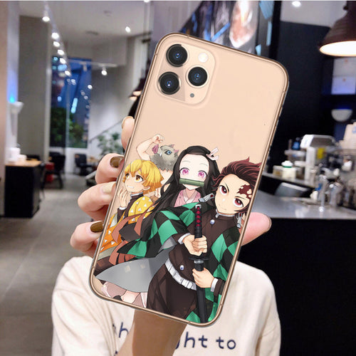 Demon Slayer Tanjiro&Zenitsu iPhone Case - The Anime Bazaar