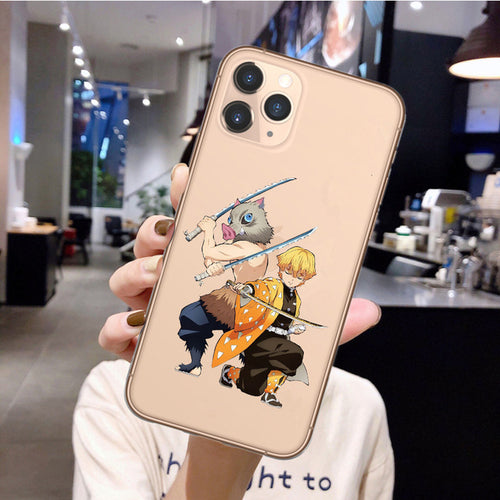 Demon Slayer Zenitsu/Inosuke iPhone Case - The Anime Bazaar