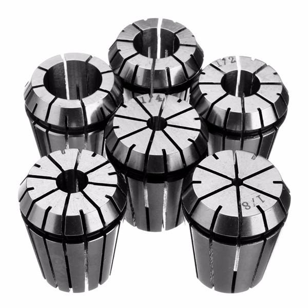 6pcs Spring Collet Set Chuck Collet for CNC Milling Lathe Tool