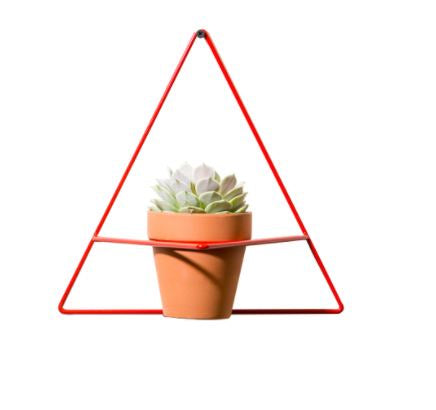 Triangle Wall Planter Red