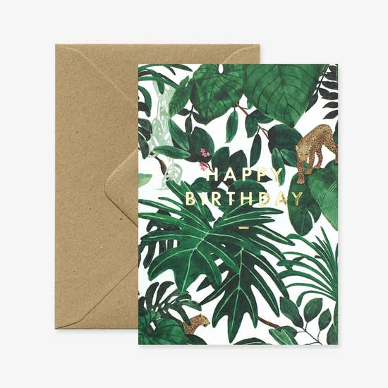 Happy Birthday Jungle Greeting Card