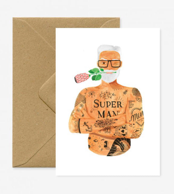 Superman Prothea Greeting card