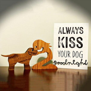 Sunbuy Wood Sculpture Table Ornaments, Gift For Pet Lovers