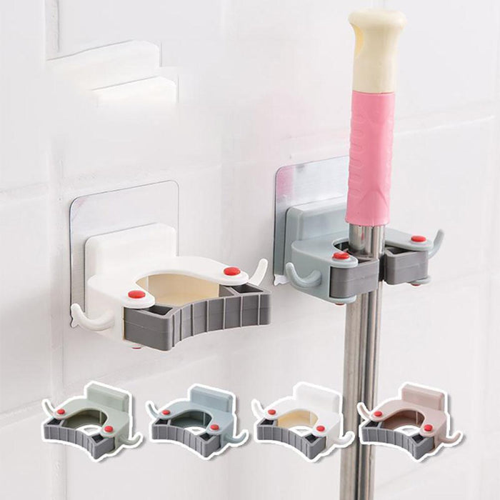 Wowslife™ Mop Brush Holder Rack Wall Mount Storage Hook