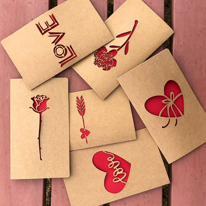 Wowslife™ Vintage Greeting Cards with Envelopes Kraft Paper Blank Gift Cards