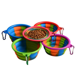 Wowslife™ Pet Bowl Silicone Folding Bowl Outdoor Portable Plastic