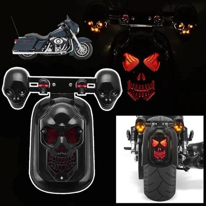Wowslife™Motorcycle skull rear tail lights