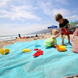 Wowslife ™ Sand Free And Waterproof Beach Mat