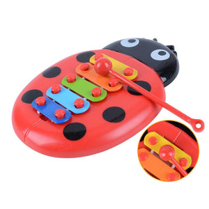 Wowslife™ Ladybird Shaped Xylophone Percussion Musical Toy with 5-Note Colorful Plate for Kid