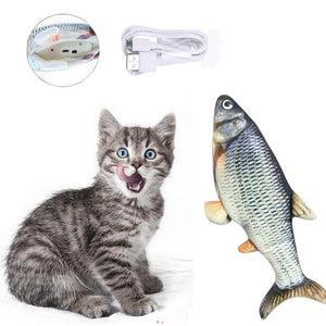 Wowslife™ Plush Simulation Electric Doll Interactive Toy Fish For Kids And Cats