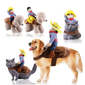 Wowslife™ Pet Costume Dog Clothes  Cowboy Rider