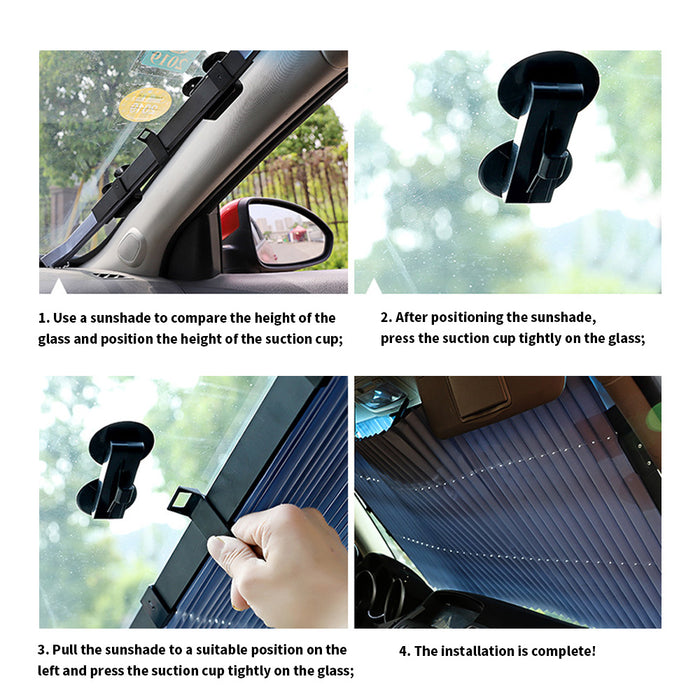 Wowslife™Heat insulation sun cars gm 65 cm (4 suction cups)