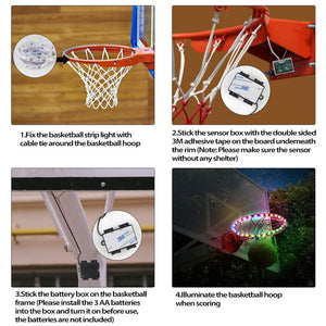 Wowslife™ Solar-powered Basketball Hoop Lamp