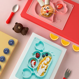 Wowslife™  Silicone Dinner Plate, Not Easy To Overturn Children's Dinner Plate