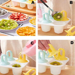 Wowslife™Popsicle Mold  Ice Cream Maker Reusable Frozen Purees Mould Kitchen Supply
