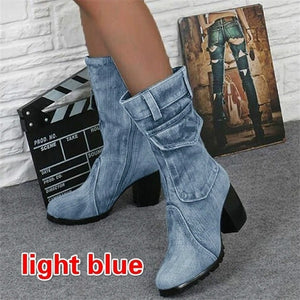 Wowslife™ Women's Denim Boots