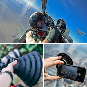 Wowslife™ Flexible Telescopic lens hood for phone or camera