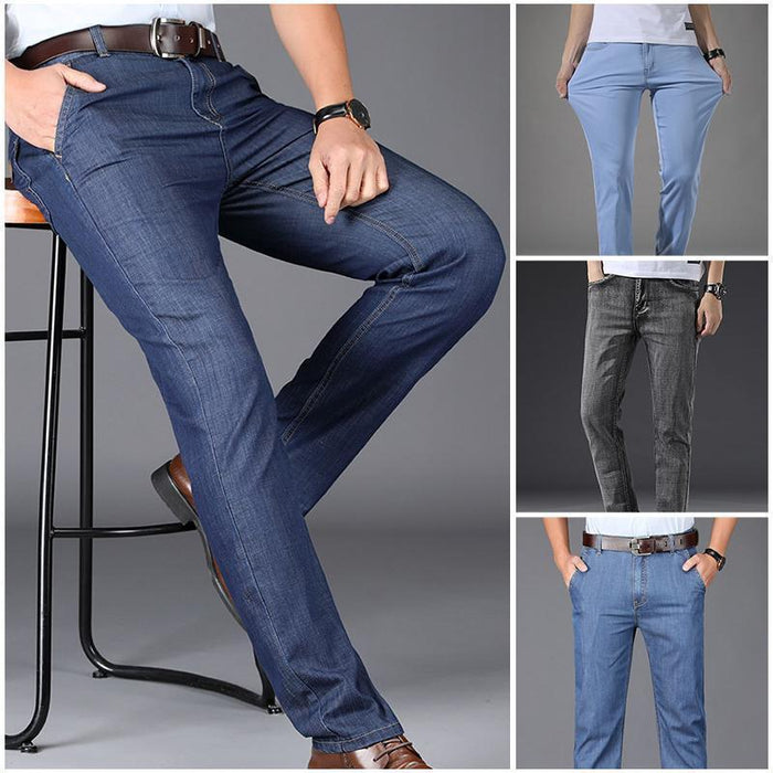 Wowslife™ Men's micro-elastic breathable ultra-light jeans